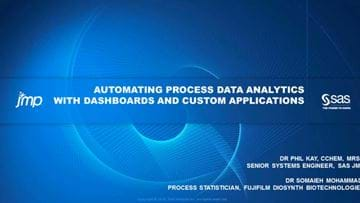Automating process data analytics with dashboards and custom applications – sponsored by JMP