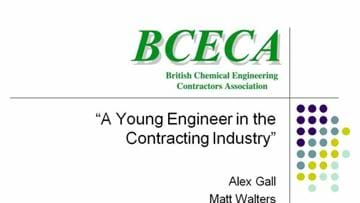 A young engineer in the contracting industry