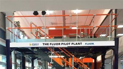 Fluor pilot plant opens at the University of Surrey