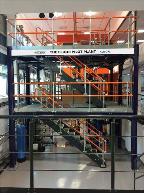 Fluor pilot plant opens at the University of Surrey - News - The
