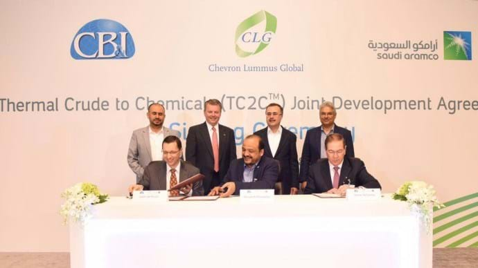 Saudi Aramco, CB&I and Chevron Lummus Global in new JDA
