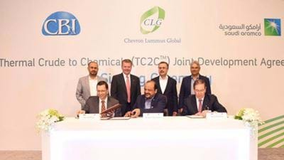 Saudi Aramco, CB&I and Chevron Lummus Global in new JDA
