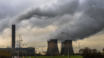 UK carbon dioxide emissions fall to same level as 1890