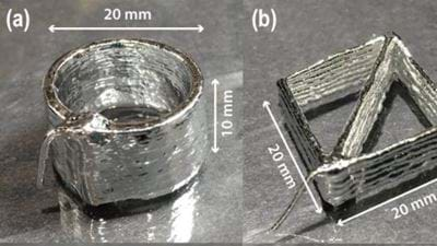 3D printing metal alloys for flexible electronics