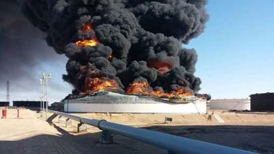 Militia causes catastrophic damage at Libyan oil port