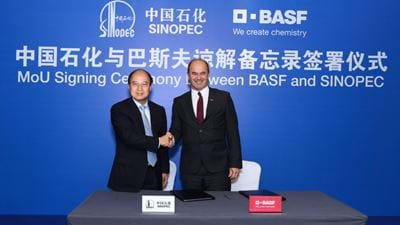 BASF and Sinopec sign MoU for China steam cracker