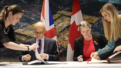 UK and Canada sign agreement for civil nuclear cooperation