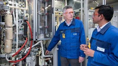 BASF develops climate-friendly methanol production process
