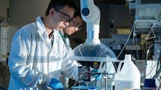 Novel electrocatalyst produces valuable fuels using CO2