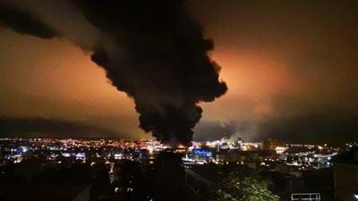 Fire breaks out at a French chemicals plant