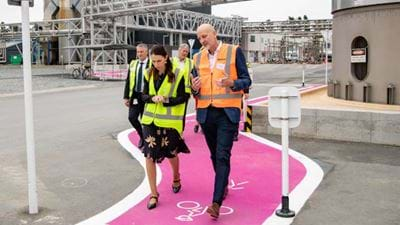 NZ PM visits milk processing plant to see novel boiler and launch tree-planting scheme