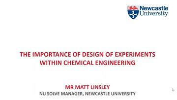 The Importance of Design of Experiments within Chemical Engineering