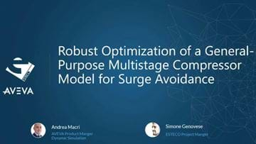 Robust Design Optimization of a Multistage Compressor for Surge Avoidance - sponsored by Aveva
